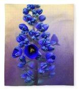 Spring Sunshine On Blue Fleece Blanket