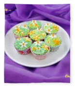 Spring Time Is Cupcake Time Fleece Blanket