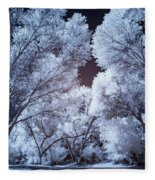 Spring Trees And Shadows Fleece Blanket