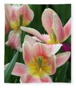 Spring Tulips 151 Fleece Blanket