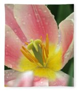 Spring Tulips 154 Fleece Blanket