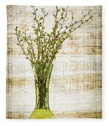 Spring Vase Fleece Blanket