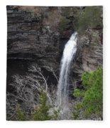 Spring Waterfall At Petit Jean Fleece Blanket