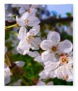 Spring White Fleece Blanket