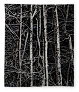 Spring Woods Simulated Woodcut Fleece Blanket