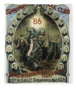 Springfield Bicycle Club 1886 Fleece Blanket