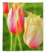 Spring's Garden Fleece Blanket