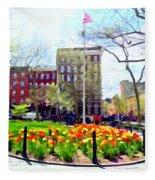 Springtime At Abingdon Square Park #2 Fleece Blanket
