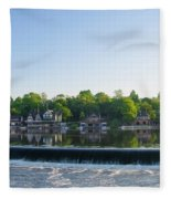 Springtime At Boathouse Row In Philadelphia Fleece Blanket