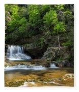 Springtime At Saint Mary's Falls Virginia Fleece Blanket