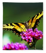 Springtime Butterfly Fleece Blanket