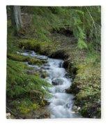 Springtime Creek Fleece Blanket