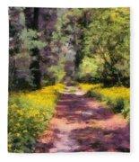 Springtime In Astroni National Park In Italy Fleece Blanket
