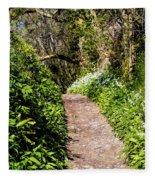 Springtime In Dorset Fleece Blanket