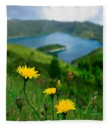 Springtime In Fogo Crater Fleece Blanket