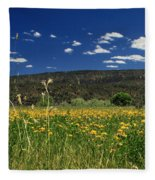 Springtime In Hat Creek Fleece Blanket