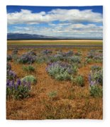 Springtime In Honey Lake Valley Fleece Blanket