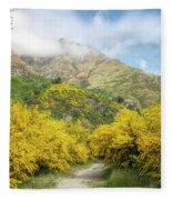 Springtime In New Zealand Fleece Blanket