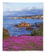 Springtime In Pacific Grove Fleece Blanket