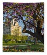 Springtime In Paris Fleece Blanket by Brian Jannsen