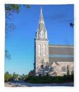 Springtime In Radnor - Villanova University Fleece Blanket
