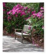 Springtime In The Park Fleece Blanket