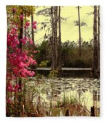 Springtime In The Swamp Fleece Blanket