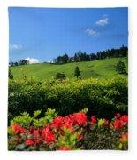 Springtime Landscape Fleece Blanket