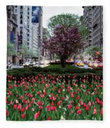 Springtime On Park Avenue Fleece Blanket