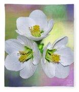 Springtime Triplets By Kaye Menner Fleece Blanket