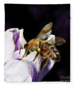 Springtime Visitor Fleece Blanket