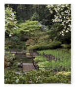Springtime Walkway Fleece Blanket