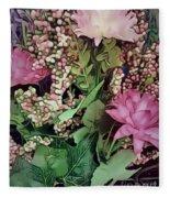 Springtime With Flowers Fleece Blanket
