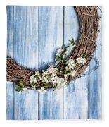 Springtime Wreath Fleece Blanket