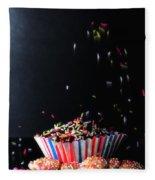 Sprinkles On Cup Cakes Fleece Blanket