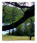 Spruce Knob Silhouette Fleece Blanket