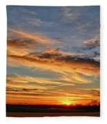 Spwinter Sunset Fleece Blanket