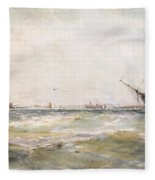 Squally Weather, Portsmouth Fleece Blanket