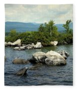 Squam Lake, New Hampshire Fleece Blanket
