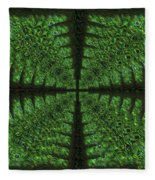 Square Crop Circles Four Fleece Blanket