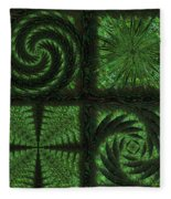 Square Crop Circles Quad Fleece Blanket