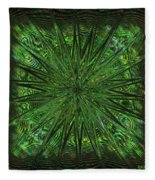 Square Crop Circles Three Fleece Blanket