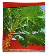 Square Palm Fleece Blanket
