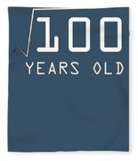 Square Root Of 100 10 Years Old Birthday Fleece Blanket