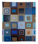 Squares Have It Fleece Blanket