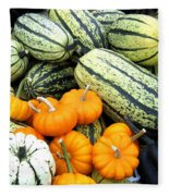 Squash Harvest Fleece Blanket