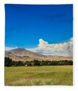 Squaw Butte And Little Butte Fleece Blanket
