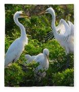 Squawk Of The Great Egret Fleece Blanket