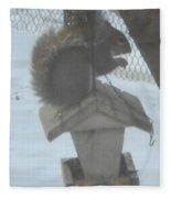 Squirrel Chilling Out Fleece Blanket