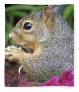 Squirrel - Morning Snack 02 Fleece Blanket